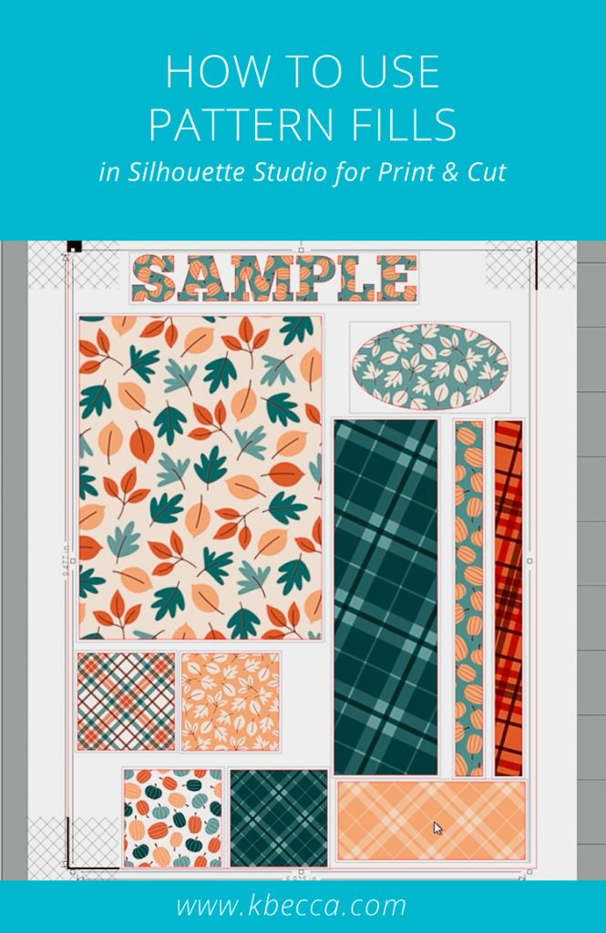 How to Use Pattern Fill Silhouette Studio Print & Cut