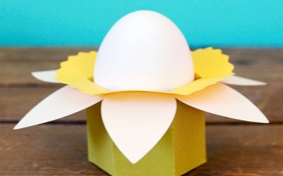 Free Daffodil Easter Egg & Candy Cups Cut Files