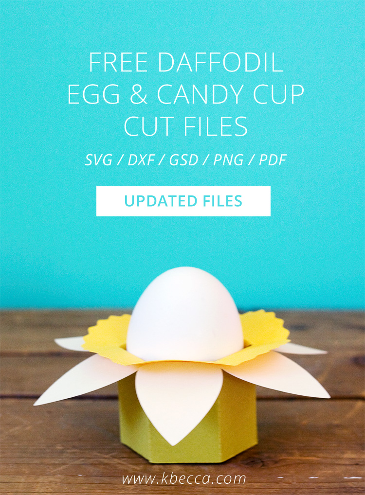 Free Daffodil Easter Egg & Candy Cups Cut Files #svgfile #svgfiles #silhouettecameo #cricut