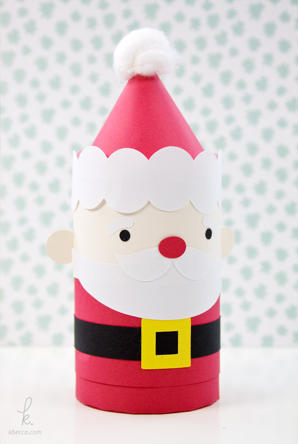 Santa Claus Cylinder Gift Box Assembly Instructions