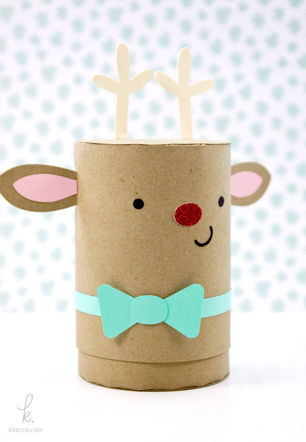 Sparkle The Reindeer Cylinder Gift Box Assembly Instructions