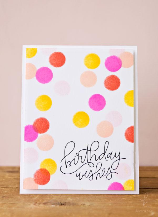 quick  easy dauber dots birthday cardmaking tutorial